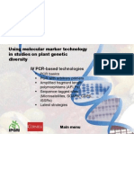 Using Molecular Marker Technology in Studies On