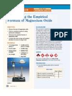 determining the empirical formula of magnesium oxide