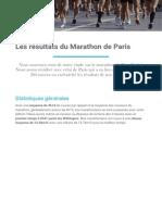Etude Marathon de Paris