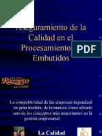 AsegurAseguramiento Calidad en el Proc de Embutidosamiento Calidad en El Proc de Embutidos