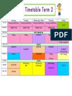 timetable term 2 1l