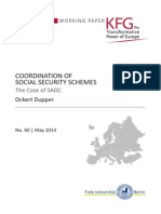 Coordination of Social Security Schemes