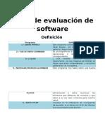 Tabla de Evaluación de Software