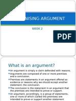 Recognising Argument
