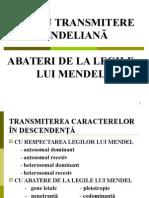 C11 Boli Cu Transmitere Mendeliana. Abateri de La Legile Mendeliene