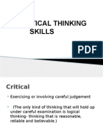 Critical Thinking Skills Reviewer