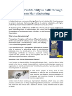 Improving Profitability in SME Through Lean Manufacturing