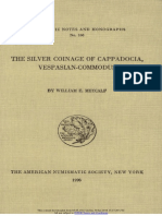The silver coinage of Cappadocia, Vespasian-Commodus / by William E. Metcalf