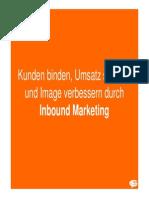 Kunden binden, Umsatz steigern und Image verbessern durch Inbound Marketing