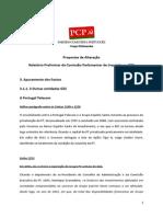 Propostas de Alteração Do PCP-Relatório Preliminar CPIBES
