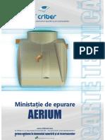 Carte Tehnica Statie de Epurare AERIUM