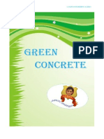 GREEN CONCRETE & SUSTAINABILITY OF ENVIRONMENTAL SYSTEM