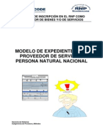Modelo Expediente Servicios PN Nacional