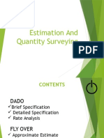 Estimation and Quantity Surveying 1