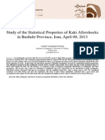 Study of the Statistical Properties of Kaki Aftershocks in Bushehr Province, Iran, April 09, 2013