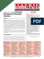 Peds0811 Bleeding Disorders
