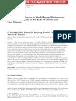 motivate employee to work beyond retirement