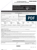 Customer Information 2010 Cash-back Reward Claim Form