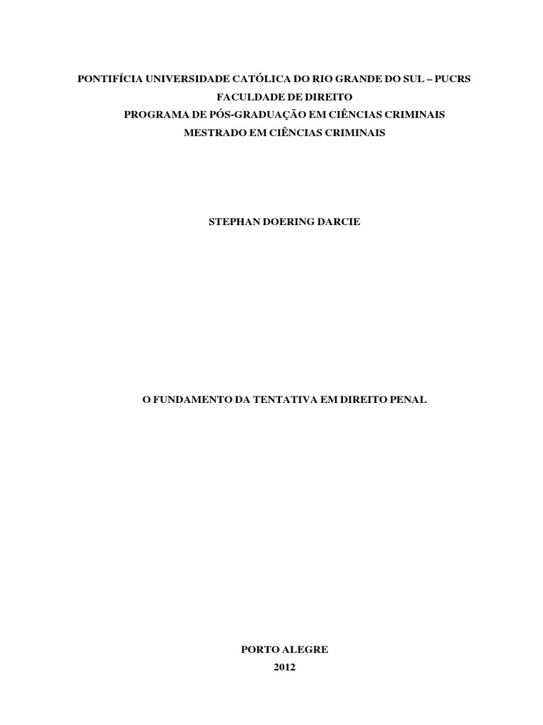 Stephan doering darcie o fundamento da tentativa em direito penal pdf