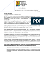 150424 CARTA PÚBLICA_Esperanza Hernández_Defensora DH Sinaloa