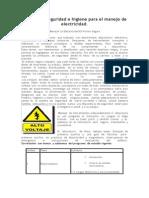 Normas de Seguridad e Higiene Para El Manejo de Electricidad