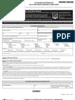 Customer Information 2010 Cash-back Reward Claim Form