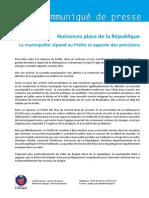 Communiqué Nuisances Place de La République