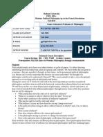 syllabus draft