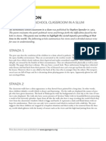 An Elementary School Classroom in a Slum - Explanation