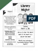 mar library night flyer