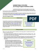 Anaheim Public Utilities Residential Solar Energy Program