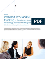Microsoft Lync and SIP Trunking