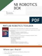 Matlab Robotics Toolbox | Matlab | Kinematics
