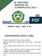 Technical Meeting Speech All