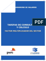 Tarifas de Consultoría y Cálculo Del Factor Multiplicador Del Sector (1)