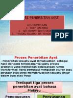 Proses Penerbitan Ayat