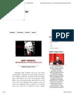 Andy Warhol Mi Filosofia de La a a La b Dr Adolfo Vasquez Rocca