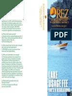 PRVWSD 2015 Lake Usage Fee Brochure - Proposed Regulation