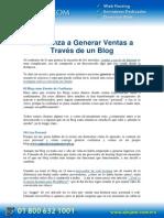PDF Como Generar Ventas a Traves de Un Blog