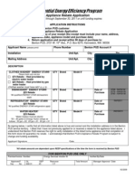 Appliance Rebate Application 9-1-09