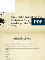 Media Evaluation - Question 2 - Chirag