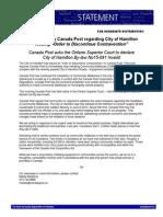 Canada Post Statement
