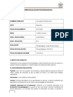 simulación de informe psicopedagogico