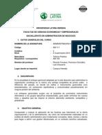Programa Am 111 Administracion II-2014, Enviado Por La Coordinación 10-01-2014