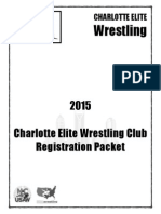 Charlotte Elite Wrestling Club Registration Packet