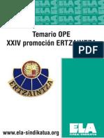 Temario Ertzaintza Xxiv