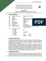 Silabo Anàlisis Estructural I 2015-I