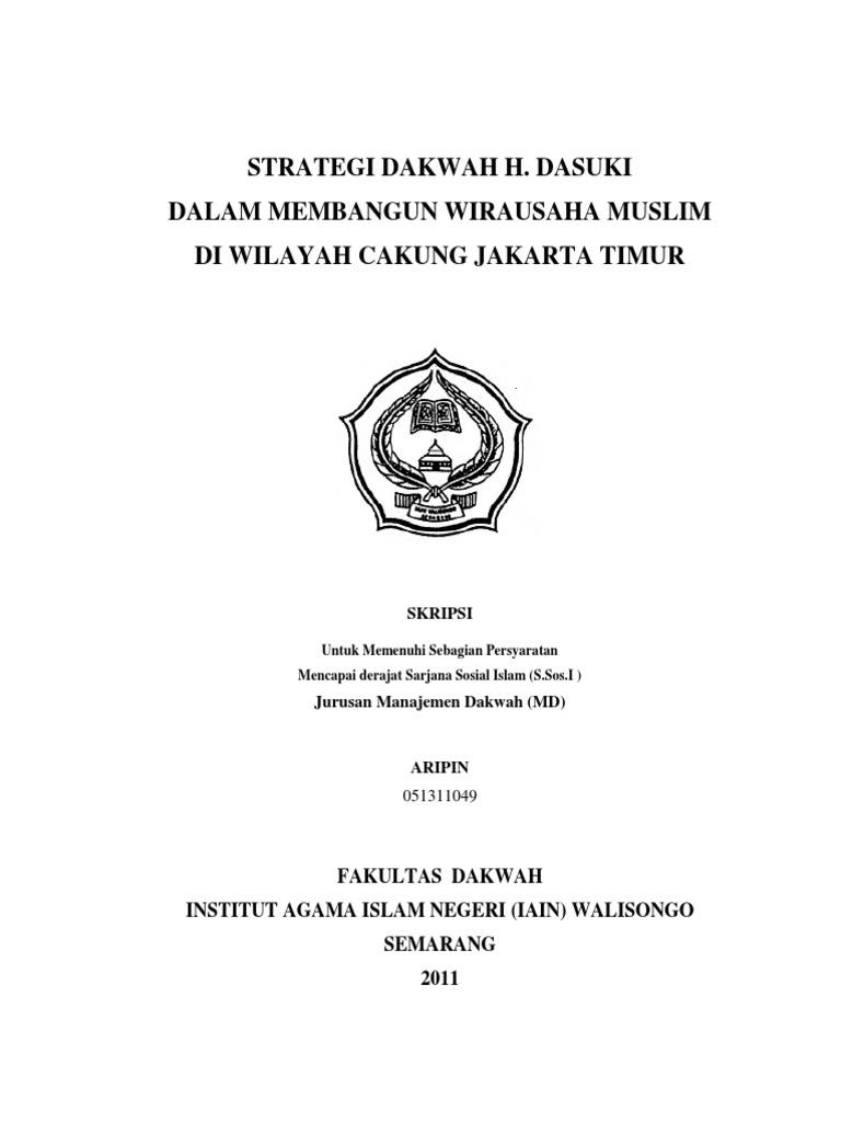 Skripsi Strategi Dakwah