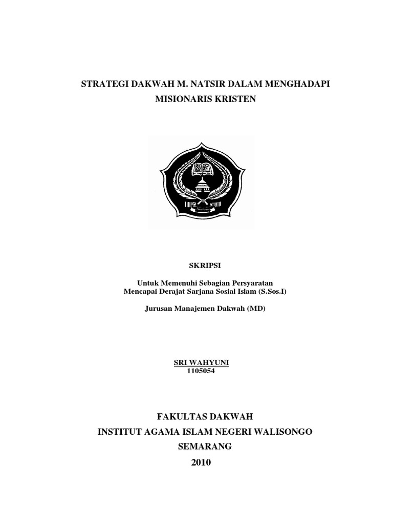 Contoh Judul Skripsi Manajemen Dakwah Uin Walisongo Semarang Ide Judul Skripsi Universitas