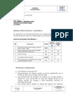 Cotizacion Servicio Swabing DCX